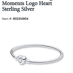 Pandora Logo heart bangle